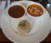 Malai kofta, Dal makhani, Spinach roti and Corn rice