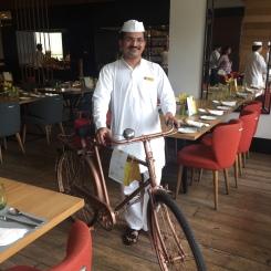 Dabbe Wala with his cycle