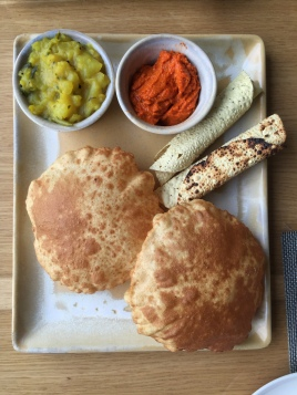 Pori with South Indian Dabba