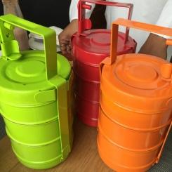 Colourful dabbas