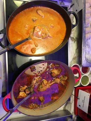 Top to Bottom: Fish Curry and Dak Bungalow chicken curry